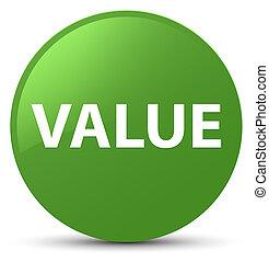 Value soft green round button