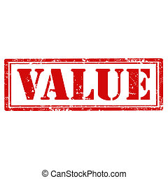 Value-stamp - Grunge rubber stamp with text Value,vector...