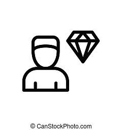 value thin line icon