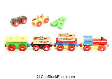 Value train - Conceptual image of a value chain, represented...