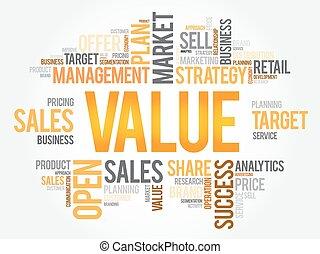 Value word cloud, business concept