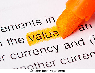 value word