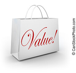 Value Word Shopping Bag Special Deal Savings - The word...