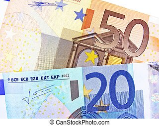 valuta euro, banknotes