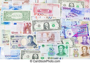 valuta globale, carta, bancario, borsa