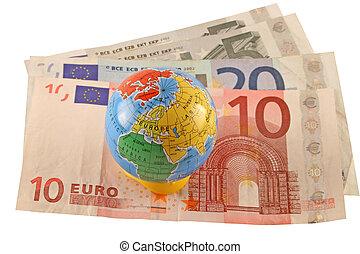 valuta, globale, euro