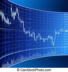 valuta, grafik, handlende, forex