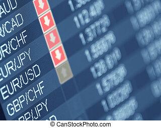 valuta, handlende