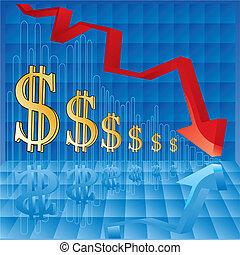 valuta, inflatie, grafiek