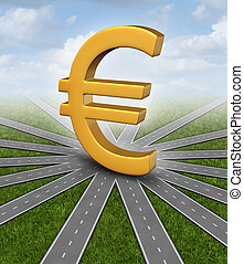 valuta, richting, eurobiljet