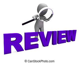 valutare, revisione, carattere, revisioni, riesaminazione, ...
