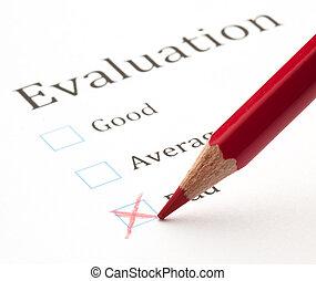 valutazione, prova