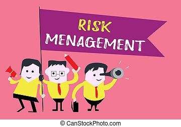 valutazione, rischio finanziario, affari, foto, esposizione, pericoli, scrittura, nota, showcasing, problemi, procedure, o, management.
