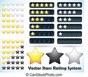 valutazione, stella, sistema