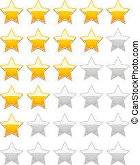 valutazione, stelle