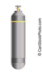 valve for cylinder vector