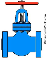 Valve - Illustration of the steel pipeline valve icon
