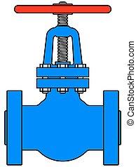 Illustration of the steel pipeline valve icon