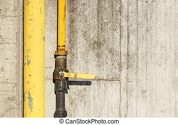 Valve on the gas pipe