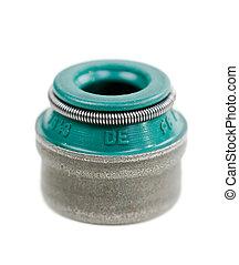 valve stem cap close up - A valve stem cap closeup on white ...