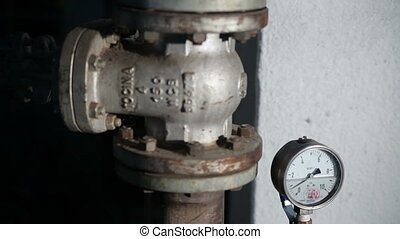 Valve With a Barometer in Manufacturing - Valve With a...