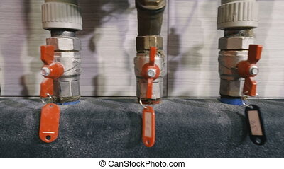 Valves for shutting off water.
