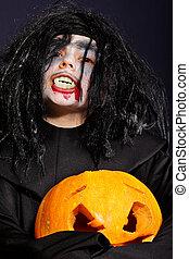 Vampire at Halloween