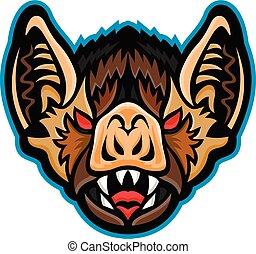 vampire-bat-head-front-mascot