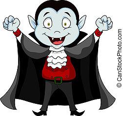 Vector illustration of vampire cartoon