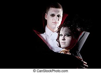 vampire couple portrait