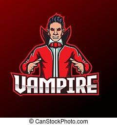Vampire esport logo mascot design.