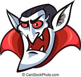 Vampire face cartoon