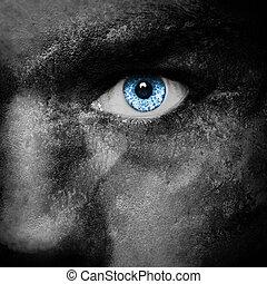 Vampire face - dark portrait