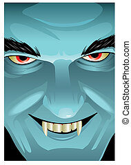Vampire Face - This grinning ghoul is WAY too close for...