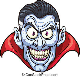Vampire face. Vector clip art illustration with simple ...