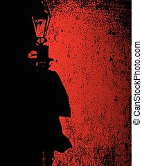 Vampire Grunge - Dark vampire by the light of a gas street...