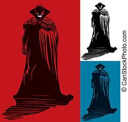 Vampire - Illustration of vampire. No transparency and...