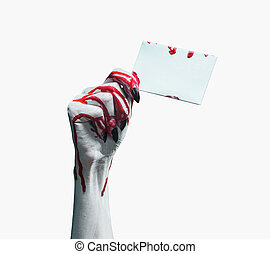 vampire, main, à, vide, carte