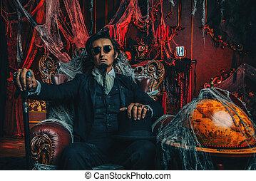 vampire on halloween