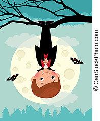 Vampire on Halloween night