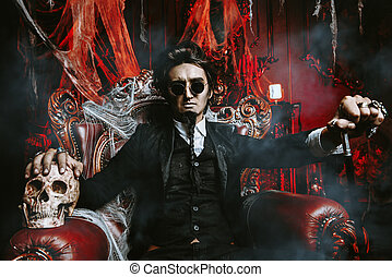 vampire scary man