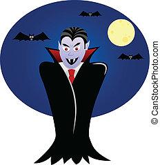 Vampire with bats