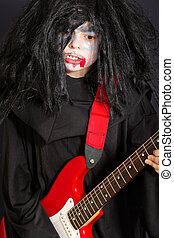 Vampire with guitar