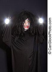 Vampire with light