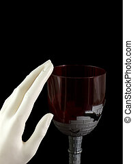 Vampire\\\'s Goblet - Vampire goblet with hand rubbing the...