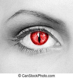 vampiro, ojos