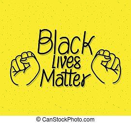 van belang zijn, leven, vuisten, vector, black , ontwerp