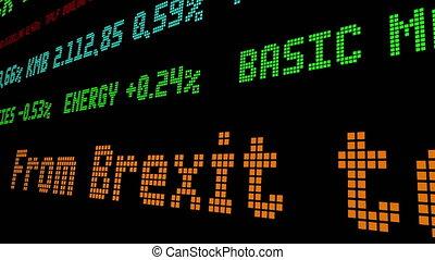 van, brexit, om te, gele, vesten, draad, van, economisch,...