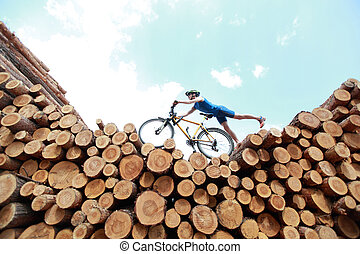 van, cycling, straat