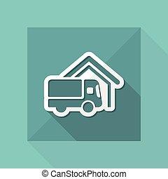 Van delivery icon